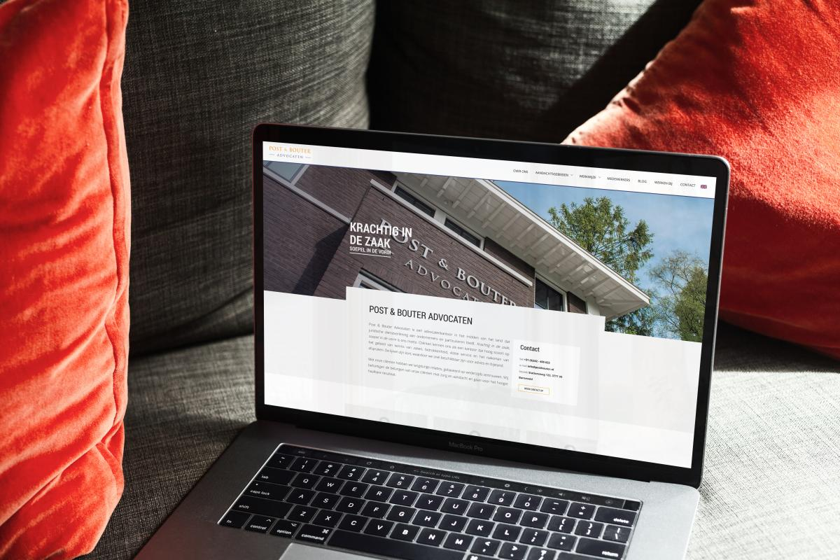 Post & Bouter Advocaten - website en huisstijl
